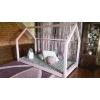Łóżko domek Bella w stylu skandynawskim Różowe