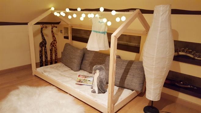 Łóżko domek Bella w stylu skandynawskim