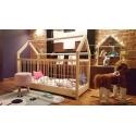 Łóżko domek / kojec z barierkami Dalia w stylu skandynawskim