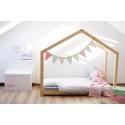 Łóżko drewniane Domek Kubi dla dzieci