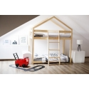Łóżko drewniane Domek pietrowe Lila
