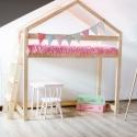 Łóżko drewniane Domek pietrowe Dori