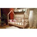 Łóżko drewniane Bukowe w stylu skandynawskim Sona