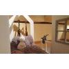 Łóżko domek z barierkami Aster w stylu skandynawskim