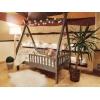 Łóżko domek drewniane dla dzieci TIPI 5
