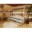 Łóżko domek Bella z szufladą i drugim spaniem