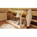 Łóżko domek Bella w stylu skandynawskim z materacem